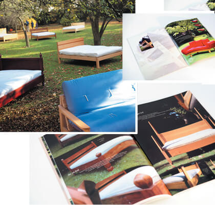 bed and sofa brochure